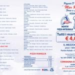Pizzeria Mar Rosso Volantino a tre ante